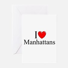"""I Love (Heart) Manhattans"" Greeting Cards (Pk of"