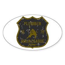 Plumber Ninja League Oval Decal