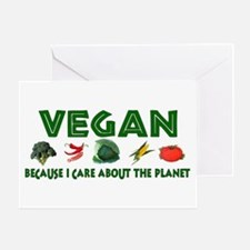 Vegans Care About Planet Greeting Card