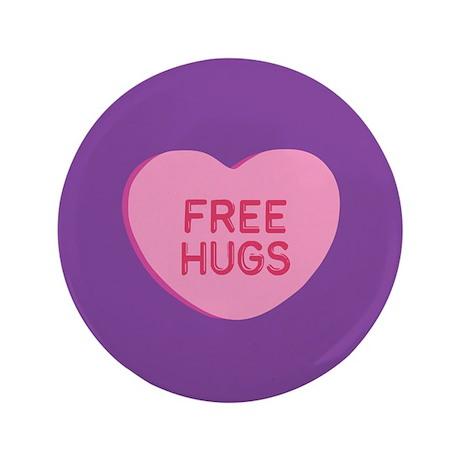 "Free Hugs 3.5"" Button"