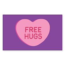 Free Hugs Rectangle Decal