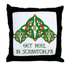 Get Reel In Scranton Throw Pillow