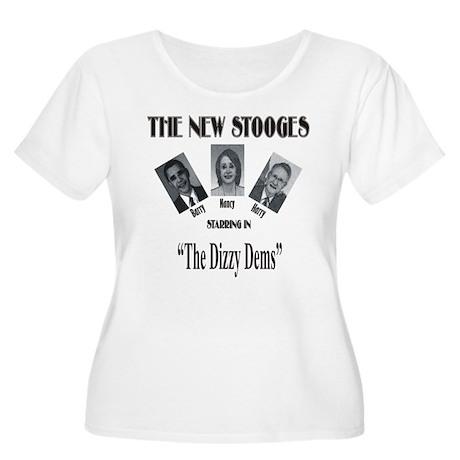 New Stooges: Dizzy Dems Women's Plus Size Scoop Ne
