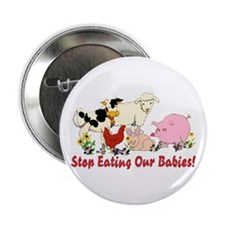 """Stop Eating Our Babies 2.25"""" Button"""
