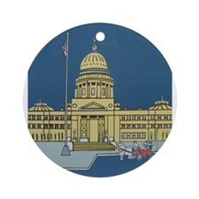 """""""Cupid at the Capital"""" Ornament (Round)"""