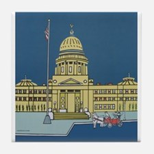 """""""Cupid at the Capital"""" Tile Coaster"""