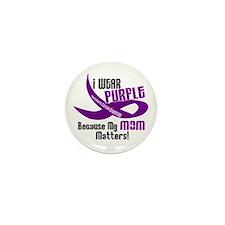 I Wear Purple For My Mom 33 PC Mini Button