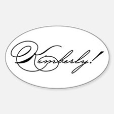 Kimberly! Design #782 Oval Decal