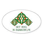 Get Reel In Dunmore Oval Sticker (10 pk)