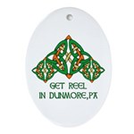 Get Reel In Dunmore Oval Ornament