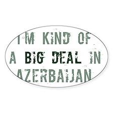 Big deal in Azerbaijan Oval Sticker (50 pk)
