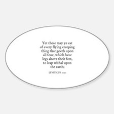 LEVITICUS 11:21 Oval Decal