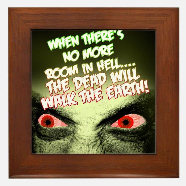 Zombie Framed Tile