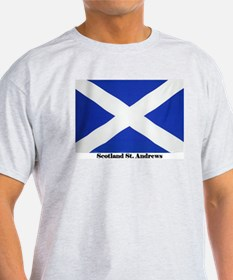 Scotland St Andrews Flag Ash Grey T-Shirt