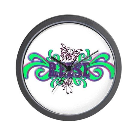 Reese's Butterfly Name Wall Clock