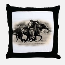 Racing Horse design Throw Pillow