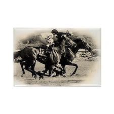 Racing Horse design Rectangle Magnet
