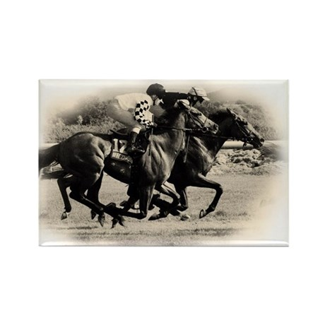 Racing Horse design Rectangle Magnet