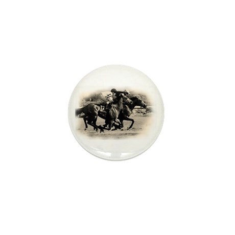 Racing Horse design Mini Button (10 pack)