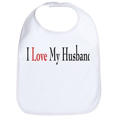 I Love My Husband Bib