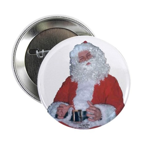 "Jolly Santa 2.25"" Button (100 pack)"