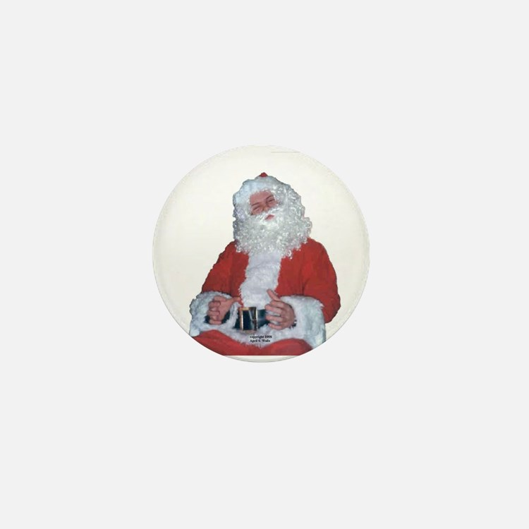 Jolly Santa Mini Button