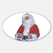 Jolly Santa Oval Decal