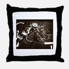 Racing duell Throw Pillow