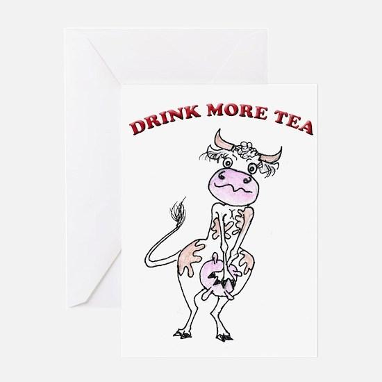 Cute Milk cow Greeting Card