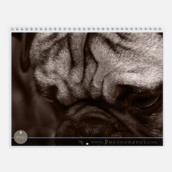 Pug Dog Wall Calendar by Pugtography