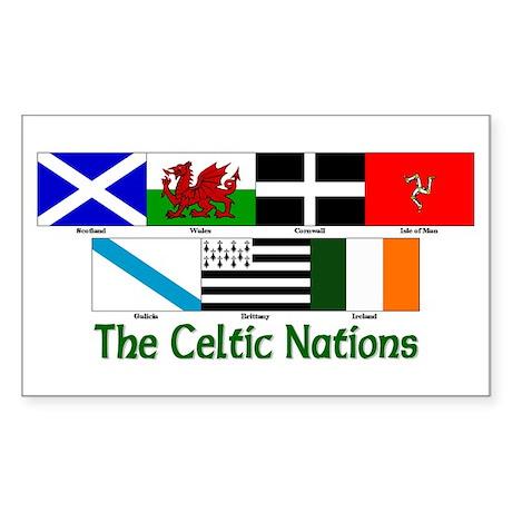 Celtic Nations Rectangle Sticker