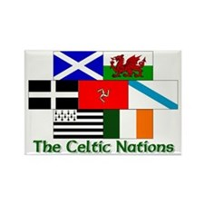 Celtic Nations Rectangle Magnet