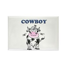 Cowboys, or funny cow product Rectangle Magnet