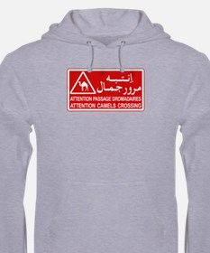 Attention Camels Crossing, Tunisia Hoodie