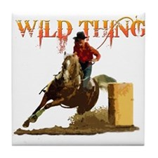 Wild Barrel cowgirls Tile Coaster