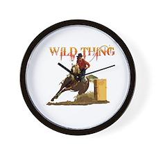 Wild Barrel cowgirls Wall Clock