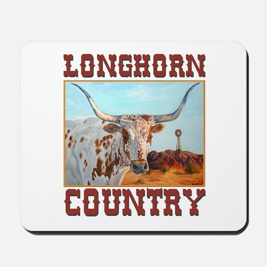Longhorn country Mousepad