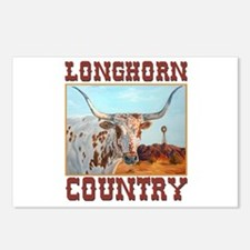 Longhorn country Postcards (Package of 8)