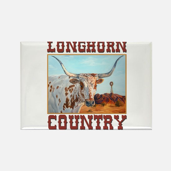 Longhorn country Rectangle Magnet