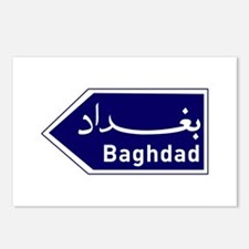 Baghdad road marker, Iraq Postcards (Package of 8)