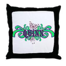 Quinn's Butterfly Name Throw Pillow