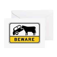 Beware of Cows, Australia Greeting Cards (Pk of 10