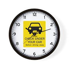 Check Under Car, Australia Wall Clock