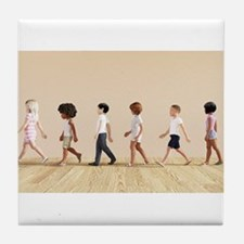Child Development with Children Learn Tile Coaster
