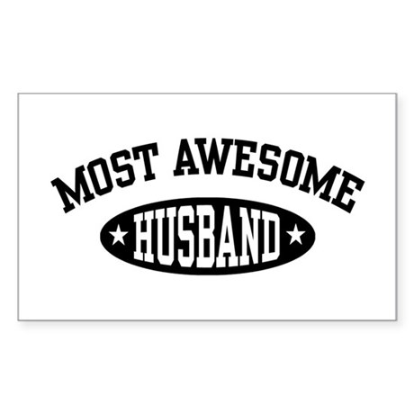 Most Awesome Husband Rectangle Sticker