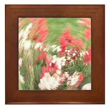 Fancy Flowers Framed Tile