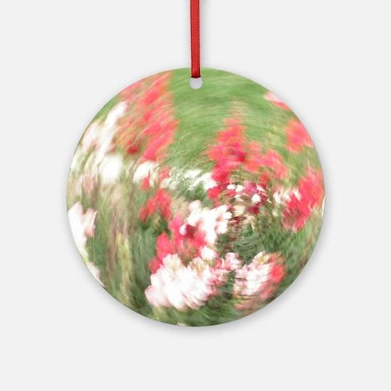 Fancy Flowers Ornament (Round)