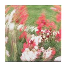Fancy Flowers Tile Coaster