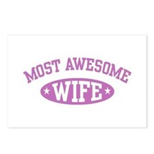 Most Awesome Wife Postcards (Package of 8)