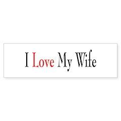 I Love my Wife Bumper Sticker (10 pk)